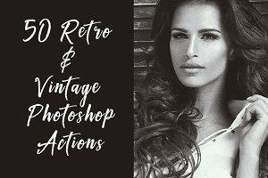 50 Retro & Vintage Photoshop Actions