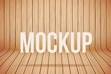 Vector Wood Mockup Background 3