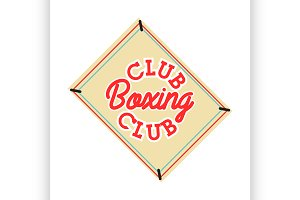 Color vintage boxing club emblem