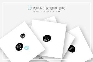 Hand drawn Storytelling & Mood Icons