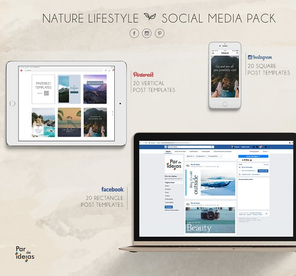 Nature Lifestyle Social Media Pack