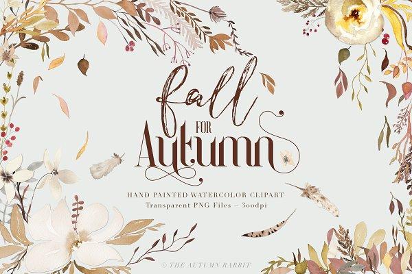 Fall for Autumn - Watercolor Clipar…