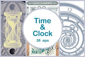 Clock&Time. Vector Illustrations