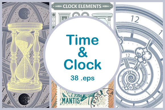 Clock Time Vector Illustrations