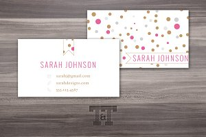 Glam Dots Business Card