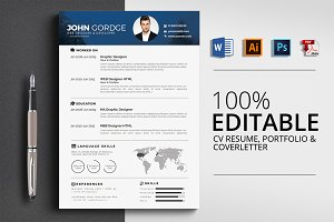 CV Resume, Cover Letter , Portfolio