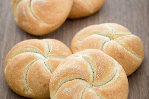 Homemade fresh bread buns