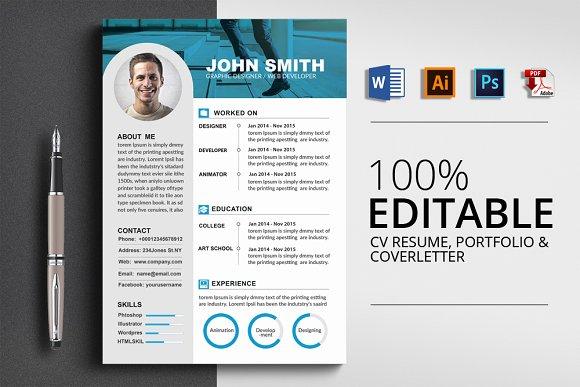 CV Resume Cover Letter Portfolio