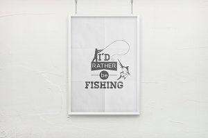 Fishing. Typography quotes.