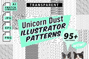 Unicorn Dust Illustrator Patterns