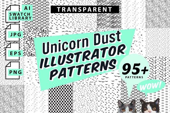 Unicorn Dust Illustrator Patterns Graphic Patterns Creative Market Unique Illustrator Patterns