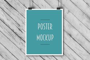 Paper clip poster mockup