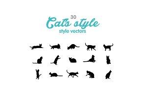 30 Cat's style vectors