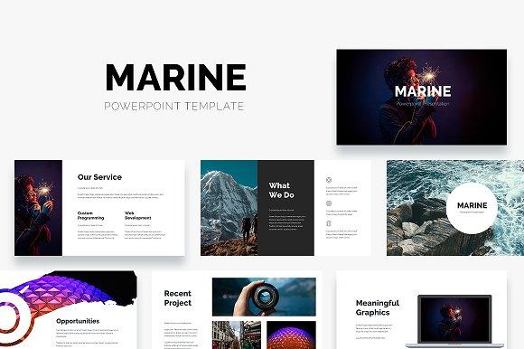 marine powerpoint template presentation templates creative market