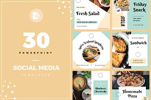 30 PowerPoint Social Media Template