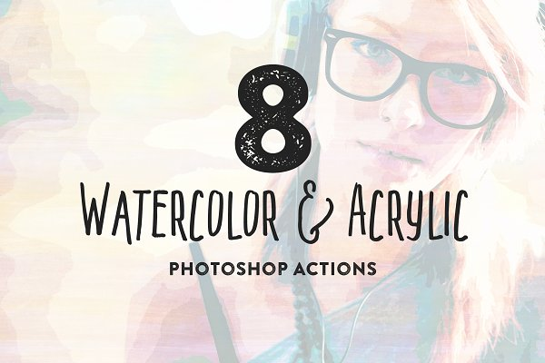 8 Watercolor + Acrylic Painting FX