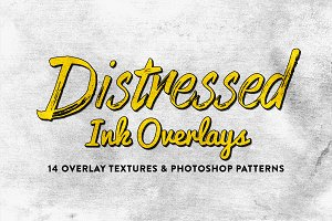 14 Distressed Ink Overlays