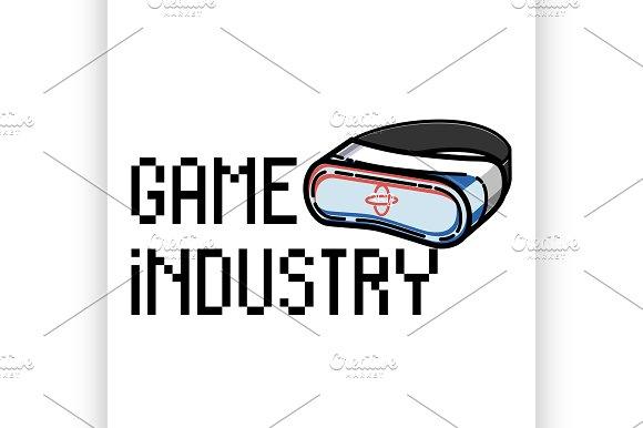 Color Vintage Game Industry Emblem