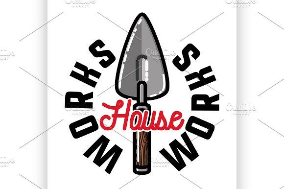 Color Vintage House Works Emblem