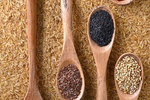 Grains and Spice on Spoons