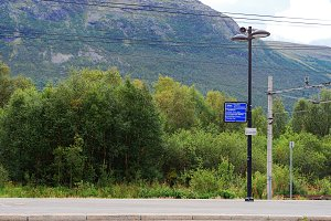 Oppdal street lamp and train communications background