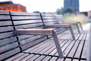 Oslo minimalistic wooden benches background