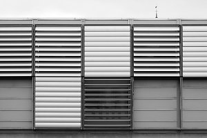 Black and white air ventilation system background