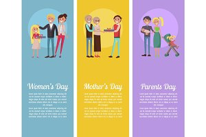 Poster Devoted to Woman's, Mother's, Parents' Days