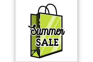 Color vintage summer sale emblem