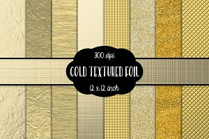 Gold Textured Foil Digital Papers