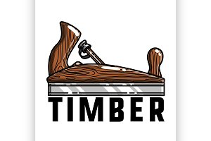 Color vintage timber emblem
