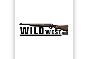 Color vintage wild west emblem