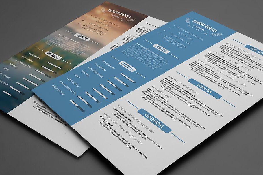 Clean Resume Template Psd Resume Templates Creative Market