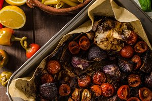 Vegetarian baked vegetables