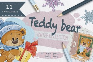 Teddy bears. Winter collection.
