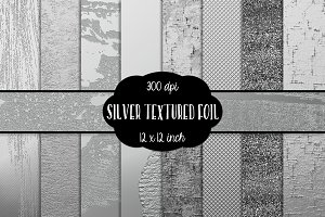 Silver Textured Digital Paper 12 in.