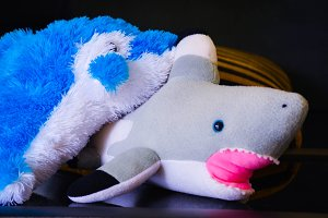 stuffed sharks and dolphins for kids