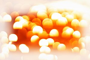 Orange ocean bokeh background