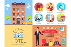 Hotel Working Indoor and Outdoor Poster with Label