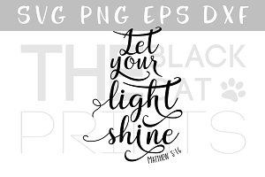 Let your light shine SVG DXF EPS PNG