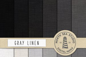 Gray Linen Scrapbook Papers