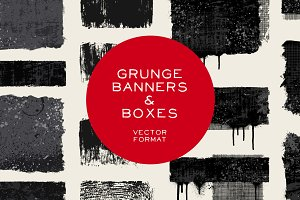 Grunge banners & boxes