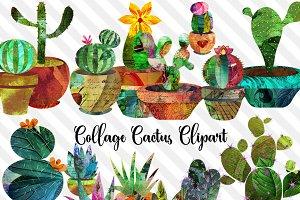 Collage Cactus Clip Art