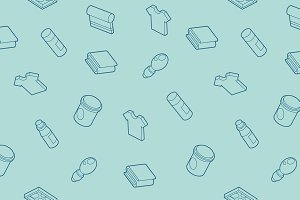 Silkskreen outline isometric pattern