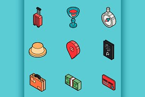 Traveling color icons