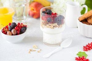 Healthy light breakfast