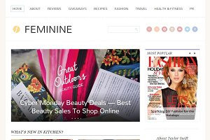 Feminine - Mommy Blogging Theme