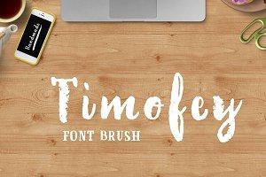 60% discounBrush Font + 1 Serif Font