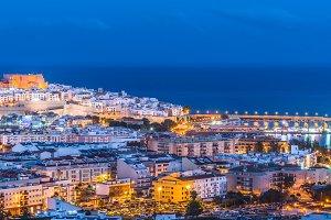 Panoramic view of Peniscola, Spain