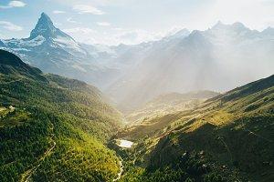 Matterhorn mountain in Swiss Alps